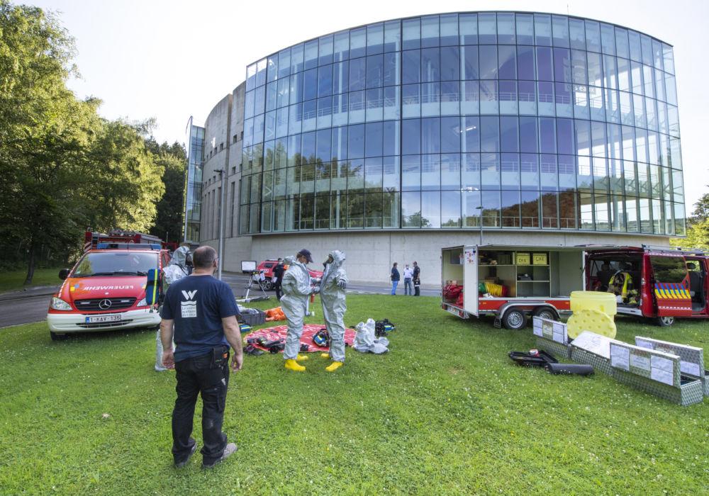 Quand les pompiers s'échauffent à notre station d'Eupen