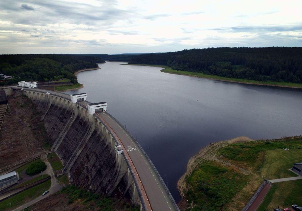 Le barrage de la Vesdre, un des plus grands réservoirs d'eau en Belgique