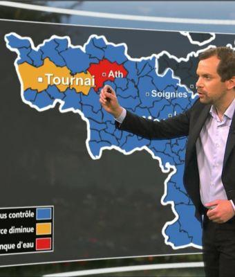 L'eau de distribution, nouvelle vedette des bulletins météo de la RTBF